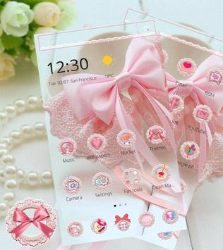 Pink Lace Ribbon Theme poster