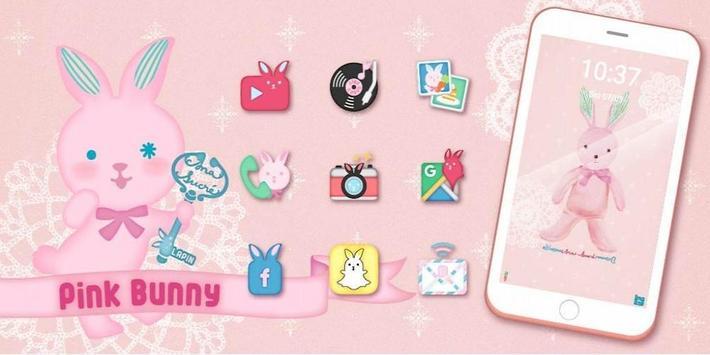 Pink Bunny Toy Theme screenshot 3