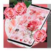 Pink Fresh Rose Theme icon