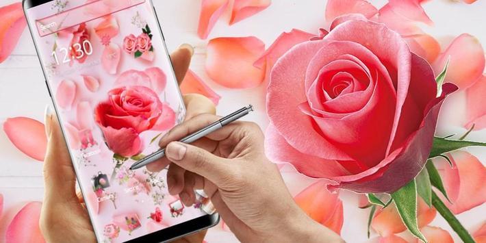 Pink Fresh Rose Theme screenshot 3