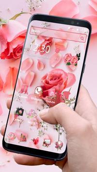 Pink Fresh Rose Theme poster