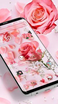 Pink Fresh Rose Theme screenshot 1