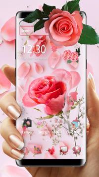 Pink Fresh Rose Theme screenshot 2