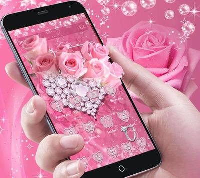 Pink Diamond Valentines Day Rose Theme poster