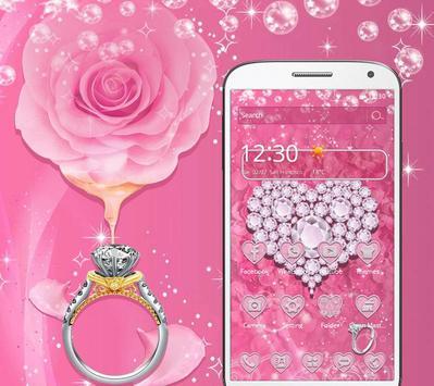 Pink Diamond Valentines Day Rose Theme screenshot 1