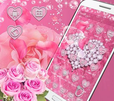 Pink Diamond Valentines Day Rose Theme screenshot 6