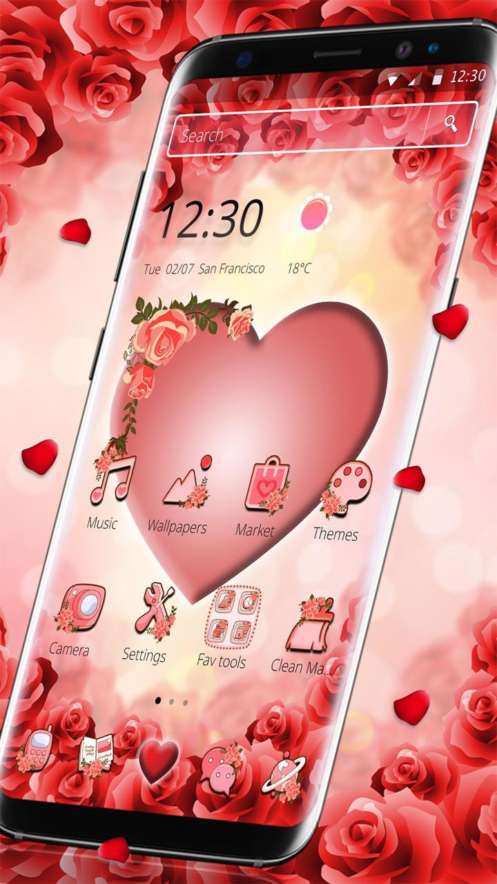 Pink Peach Heart Love Theme for Android - APK Download