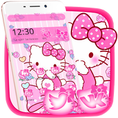 ikon Tema Pink Princess Kitty