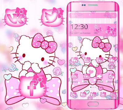 Tema Pink Princess Kitty poster