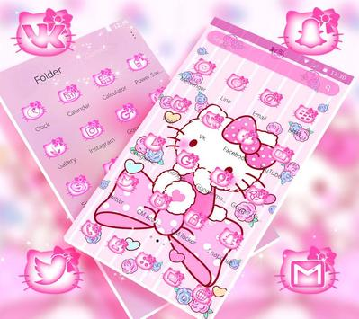 Tema Pink Princess Kitty screenshot 1