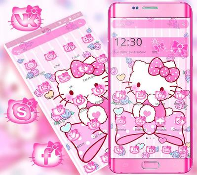 Tema Pink Princess Kitty screenshot 2