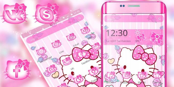 Tema Pink Princess Kitty screenshot 3