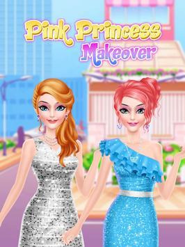 Pink Princess Makeover Salon poster