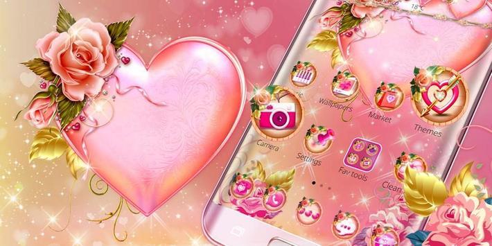Pink Rose Heart Theme Screenshot 3