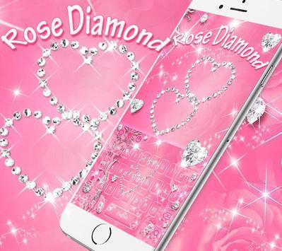 Rose diamond keyboard theme poster