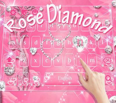 Rose diamond keyboard theme apk screenshot