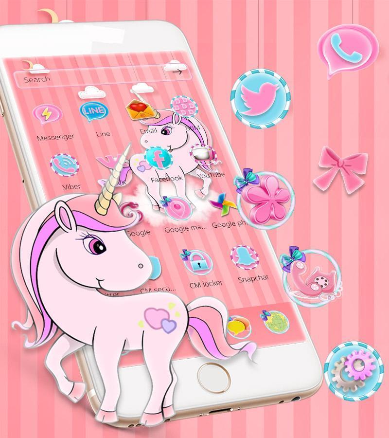 Pelangi Unicorn Tema Poni Kecil For Android Apk Download