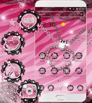 Pink Zebra Diamond Jewelry Theme screenshot 3