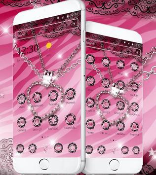 Pink Zebra Diamond Jewelry Theme screenshot 1