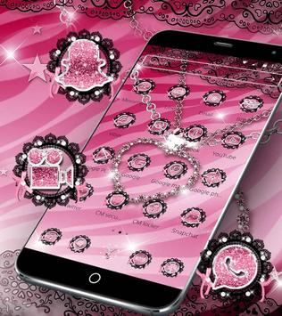Pink Zebra Diamond Jewelry Theme screenshot 5