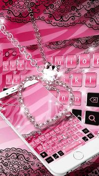 Pink Zebra Diamond Theme Keyboard screenshot 1