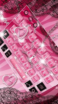 Pink Zebra Diamond Theme Keyboard screenshot 2