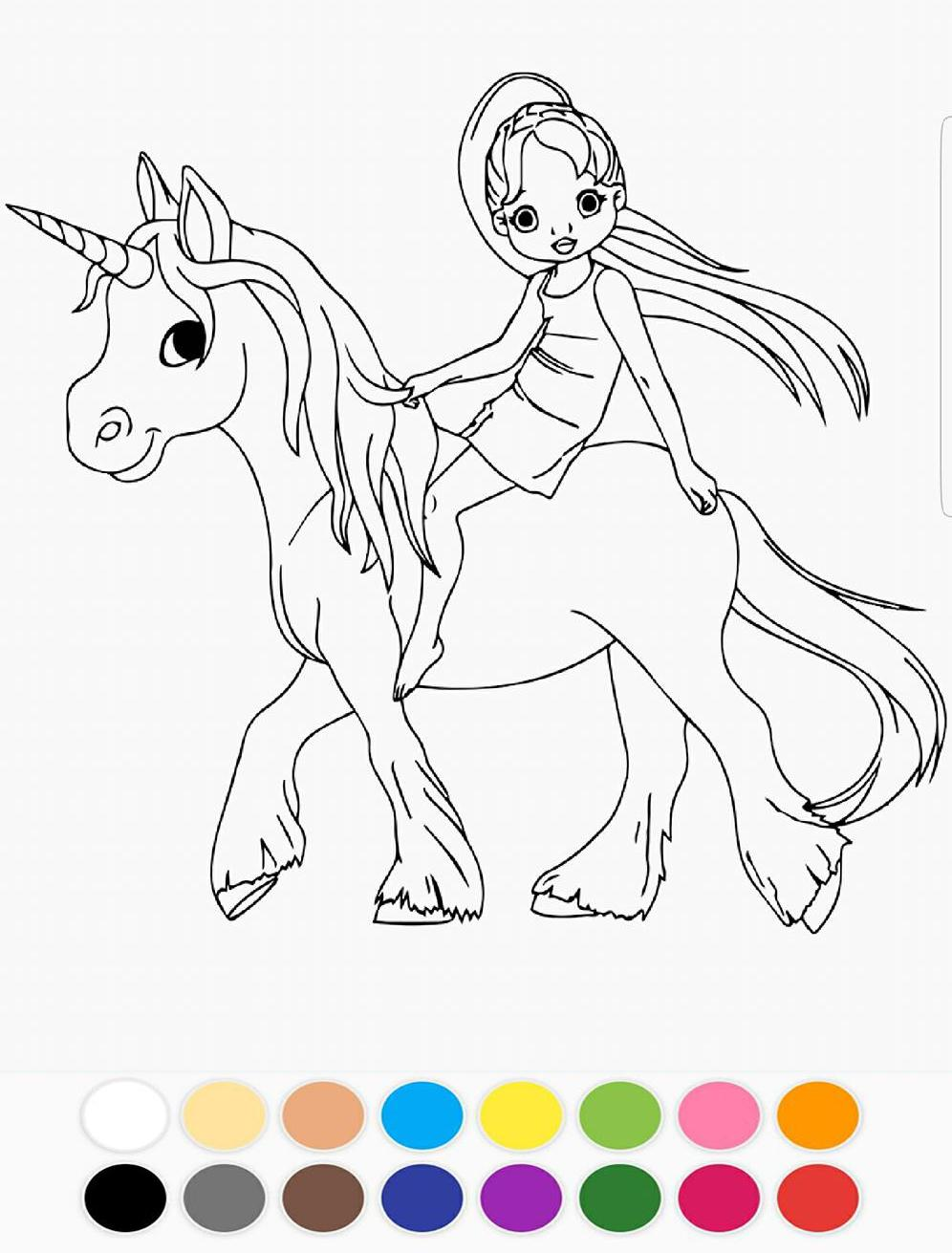 rose licorne coloriage dessin arc-en-ciel for Android ...