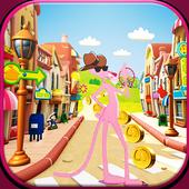 Panter Skater In Pink World icon