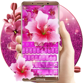 Pink Flowers keyboard icon