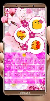Pink Flowers keyboard screenshot 4
