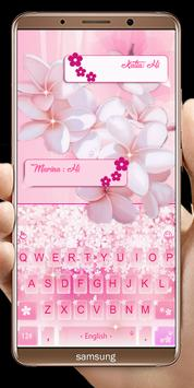 Pink Flowers keyboard screenshot 9