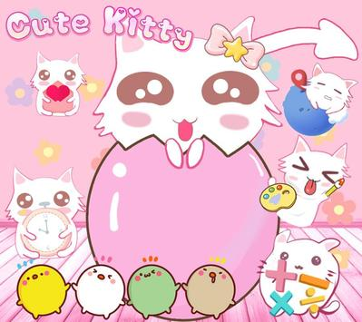 Cute Kitty Pink poster