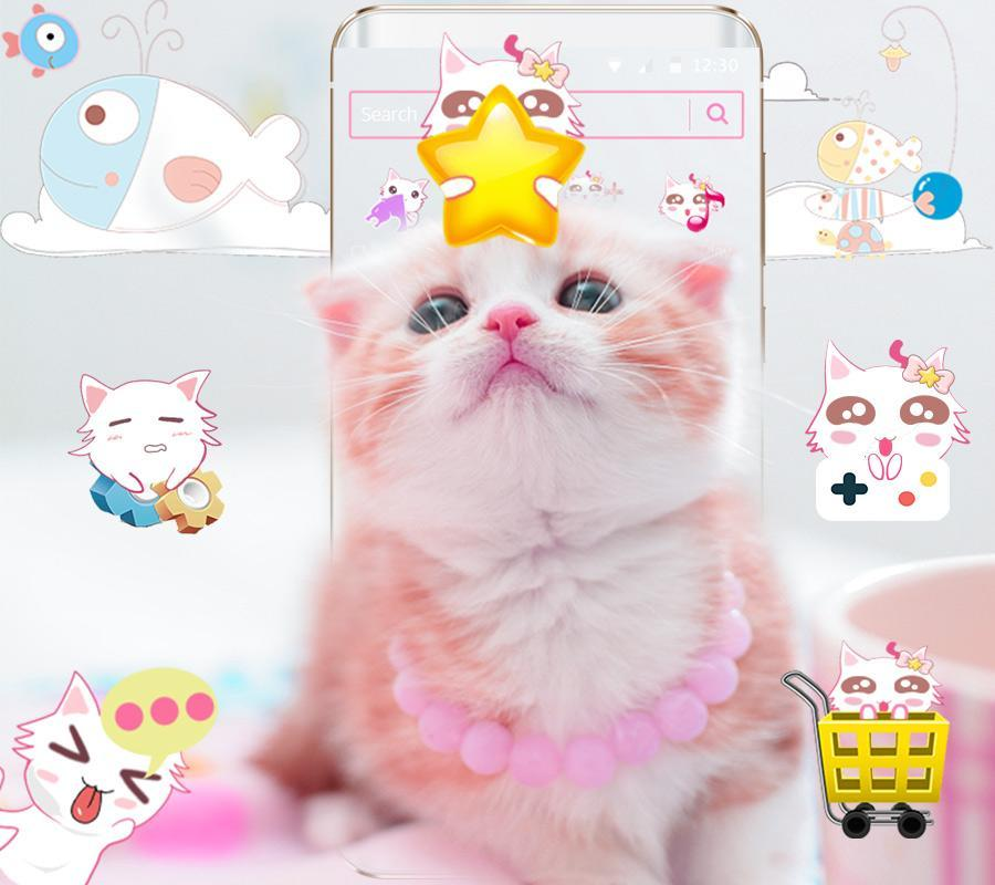 Pink Cat Cute Kitty Theme For Android Apk Download
