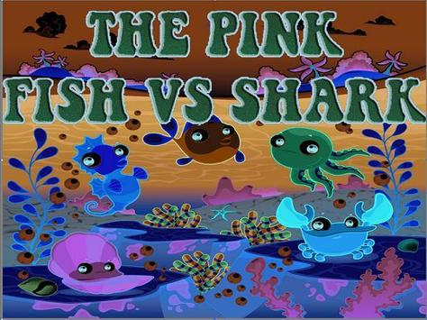 The pink Fish vs shark! Run screenshot 1