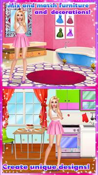 🏡 Girly House Decorating Game स्क्रीनशॉट 2