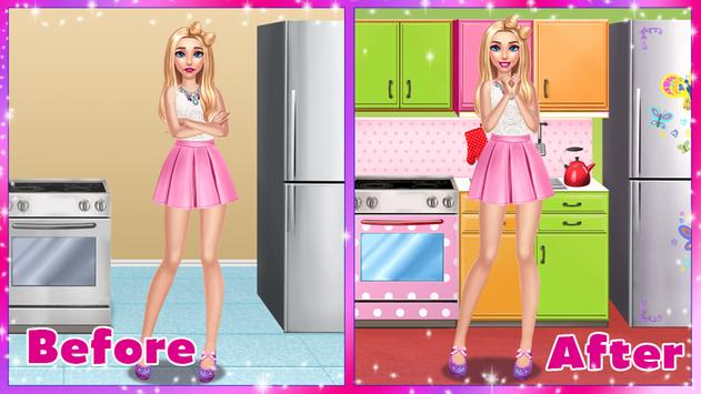 🏡 Girly House Decorating Game स्क्रीनशॉट 8