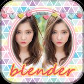 Photo blender Image mixer new icon