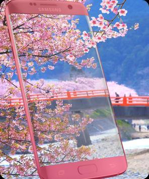 Pink Sakura Live Wallpaper apk screenshot