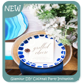 Glamour DIY Cocktail Party Invitation icon