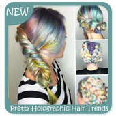 Pretty Holographic Hair Trends icon