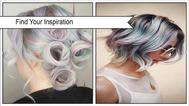 Pretty Holographic Hair Trends poster