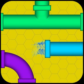 Pipe game pipe twister puzzle poster