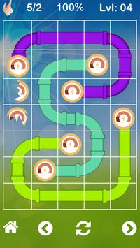 Plumbing game Pipes puzzle and twister poster