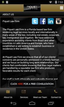Piquet Law Firm apk screenshot