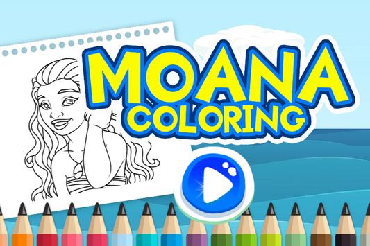 Moana Coloring Book poster