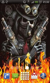 Pirate Skull Fire Flames LWP poster