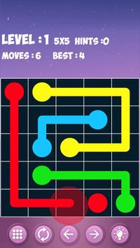 Flow free - color's connection and matching screenshot 1