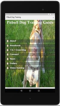 Pitbull Dog Training Guide poster
