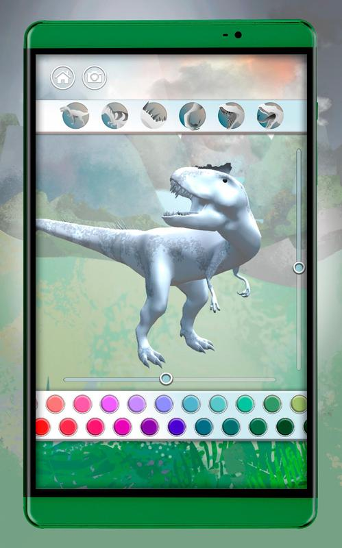 Dinosaurs 3D Coloring Book Screenshot 10