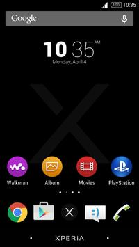 Simple Xperia Logo Theme Black poster